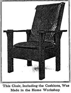 morris chair built by amateur woodworker, A L Hall