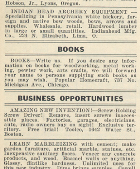 ad for books thru PH 1931