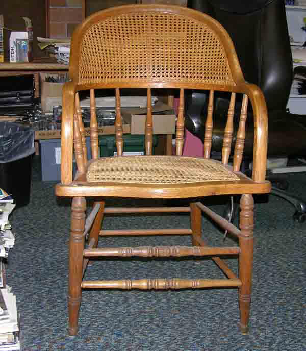 caned chair