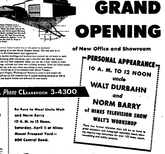 newspaper ad for durbahn appearance