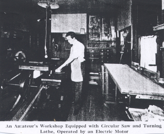 griffith's 1910 home workshop