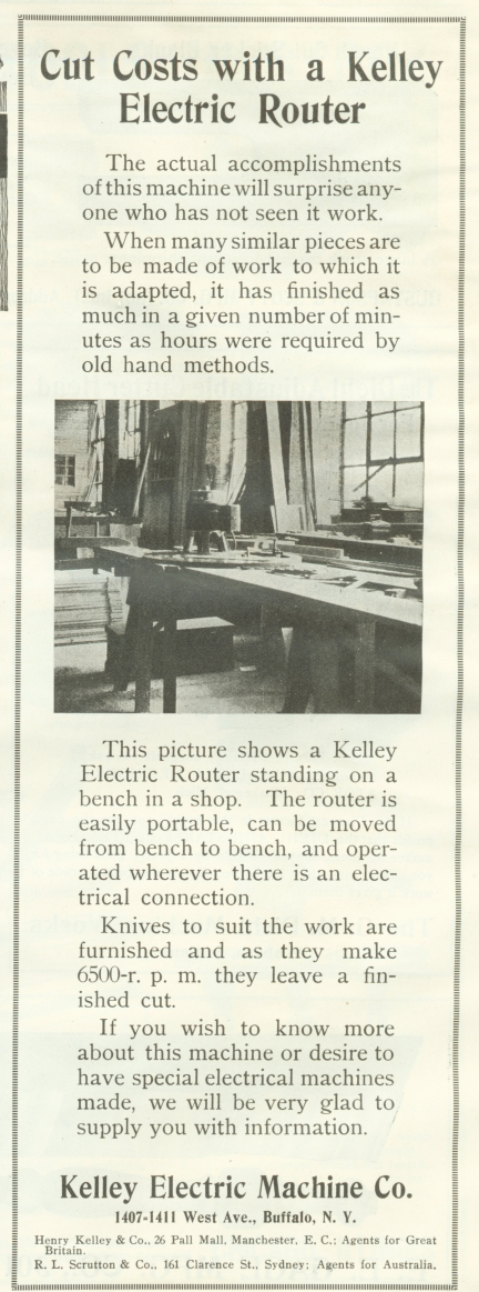 kelley router 1918