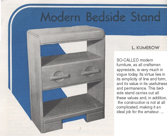 l kumerov's modern bedside stand