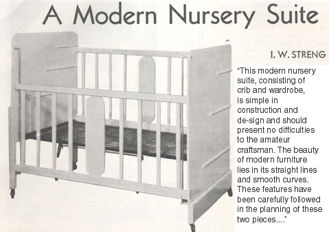 i w streng's modernistic crib