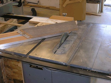 cutting frames on tablesaw