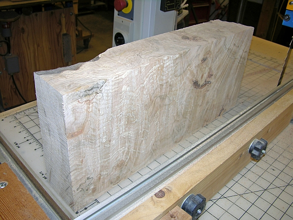 resawing big leaf maple burl 1