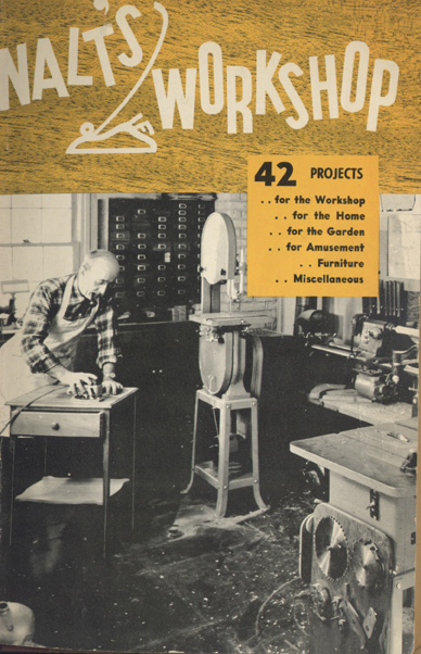 cover of walt durbahn's woodworker's manual 1951