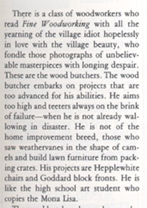 woodbutcher image from <b><i>Fine Woodworking</b></i> Spring 1977